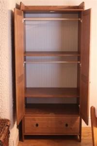 ikea leksvik wardrobe solid wood ebay. Black Bedroom Furniture Sets. Home Design Ideas