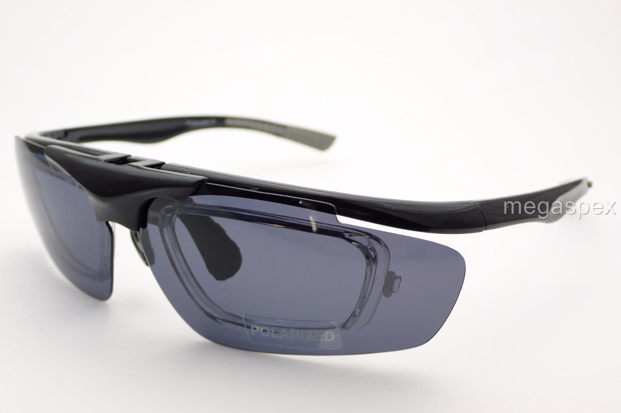 Prescription polarised sports sunglasses fishing cycling for Prescription fishing sunglasses