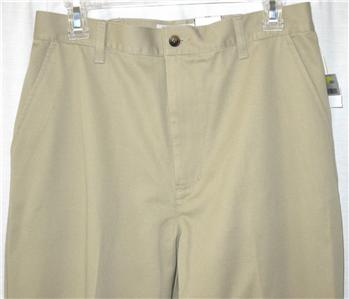 cabin creek tan khaki side elastic waist pants slacks size