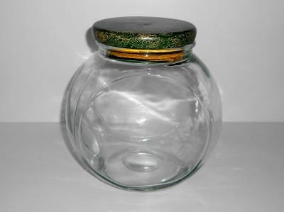 glass tilt penny candy cookie jar storage canister with wood stopper lid ebay. Black Bedroom Furniture Sets. Home Design Ideas