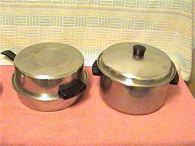 lustre craft stainless steel pots and pans lot 17 piece