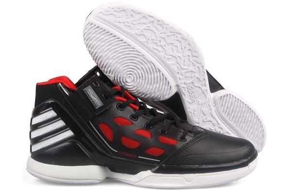 Adidas-Adizero-Rose-2-0-2-Black-Red-Mens-Basketball-Shoes-Jordan-Kobe-Lebron