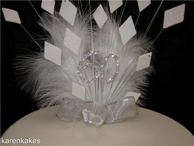 60th diamond wedding anniversary cake topper ebay for 60th wedding anniversary decoration ideas