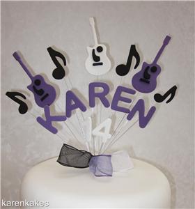 Guitar Th Cake Topper