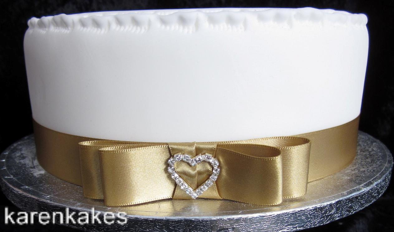 1xMetre 25mm Gold Satin Ribbon Plus Bow Diamante Buckle ...