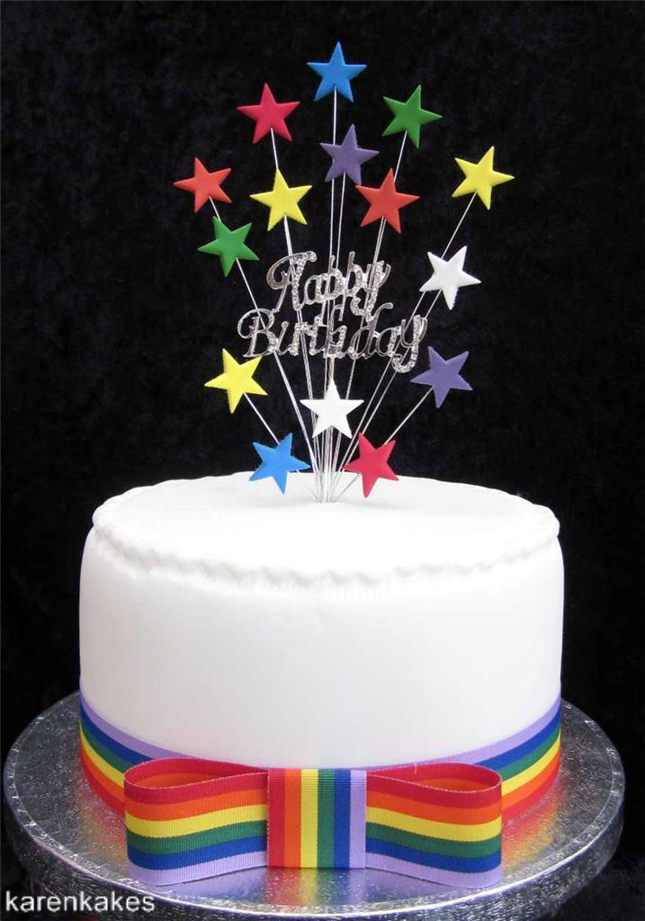 DIAMANTE-HAPPY-BIRTHDAY-CAKE-TOPPER-WITH-STARS-SUITABLE-FOR-A-15cm-CAKE thumbnail 4