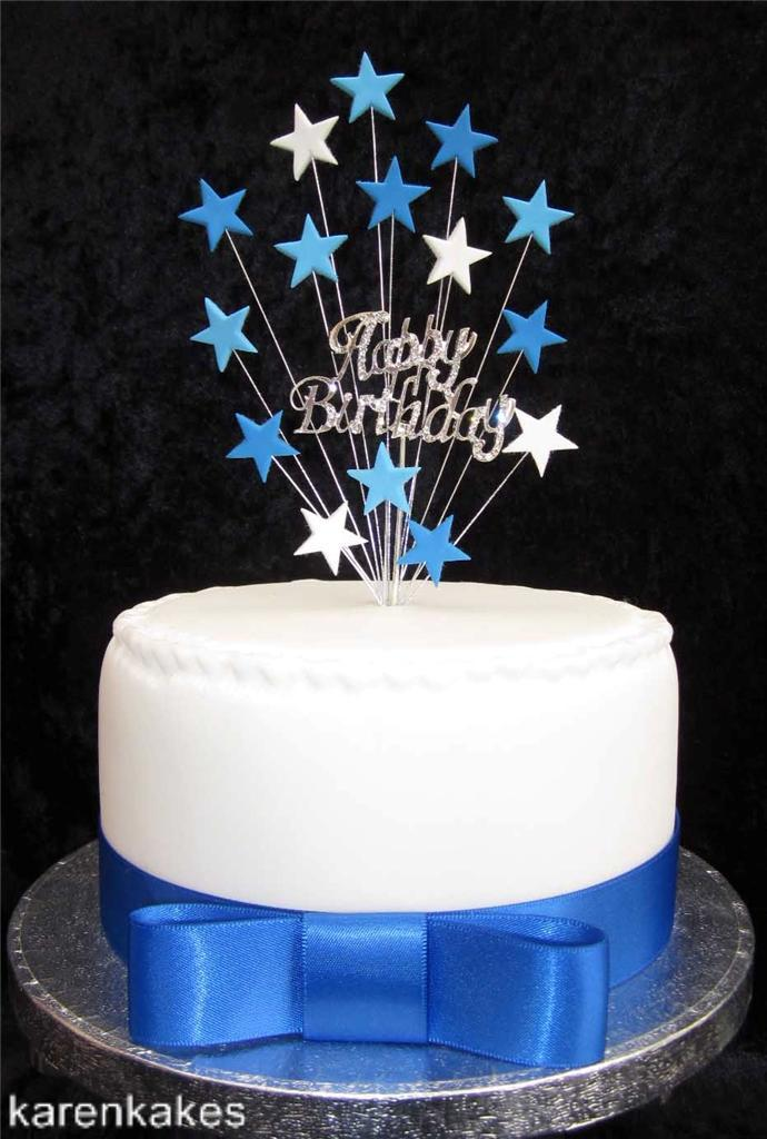 DIAMANTE-HAPPY-BIRTHDAY-CAKE-TOPPER-WITH-STARS-SUITABLE-FOR-A-15cm-CAKE thumbnail 3
