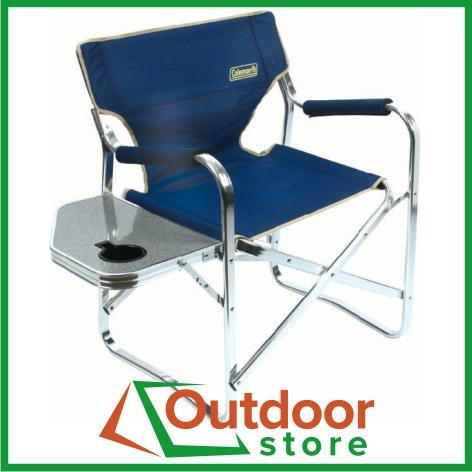 Coleman Director Chair Plus with Side Table Camp Picnic