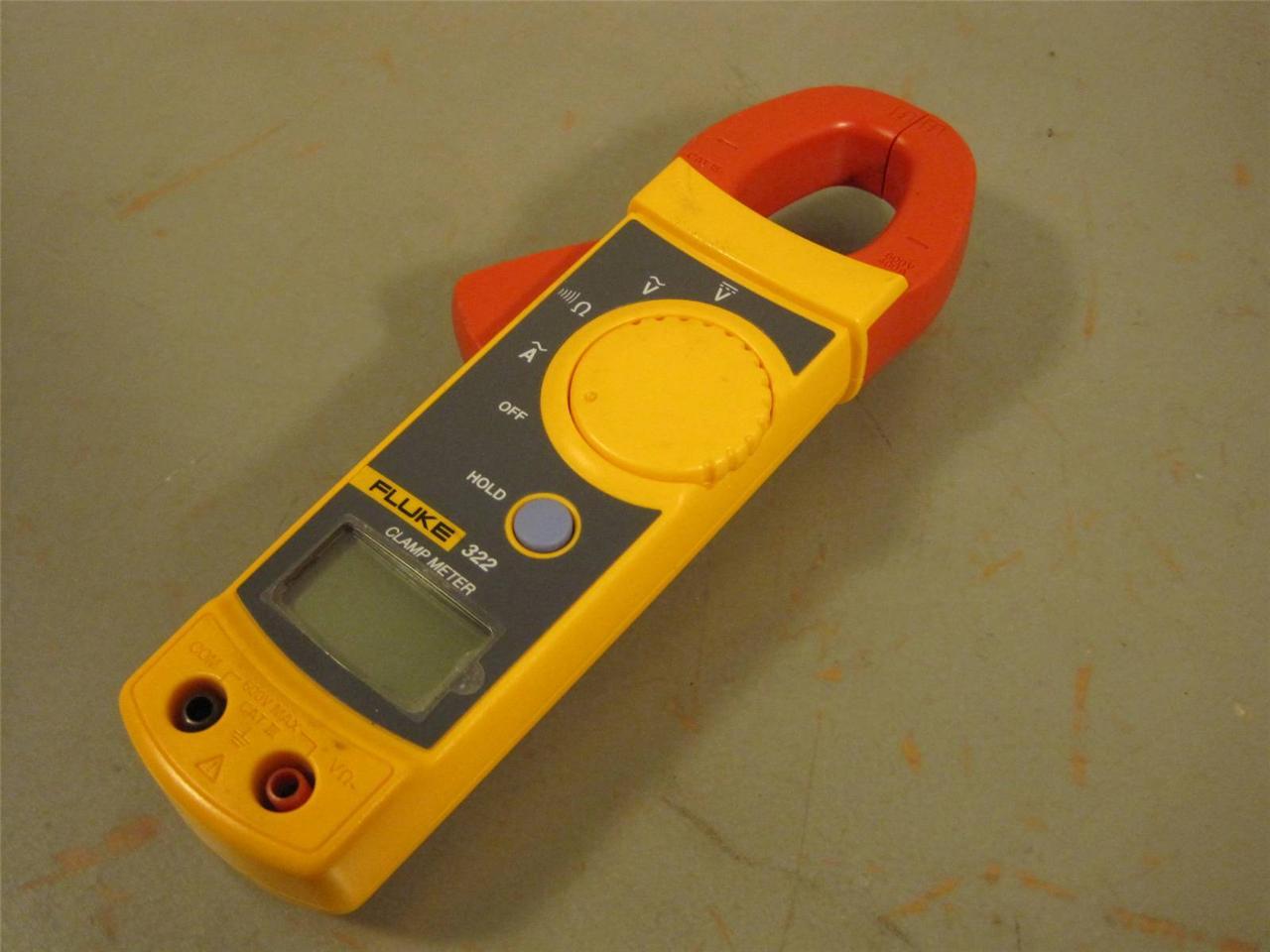 Fluke 322 Clamp Meter : Fluke digital clamp meter voltmeter multi new