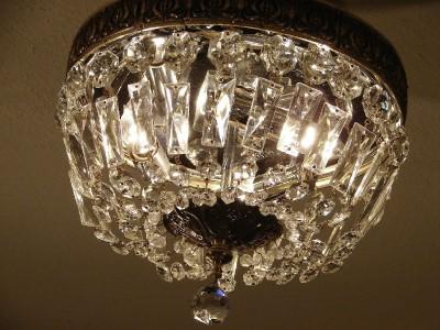 Dripping Crystal Basket Chandelier - 6 Light - Shades of Light