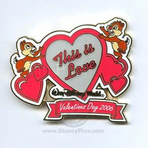 Chip Dale to My Valentine This Is Love Valentines Day 06 Disney Le