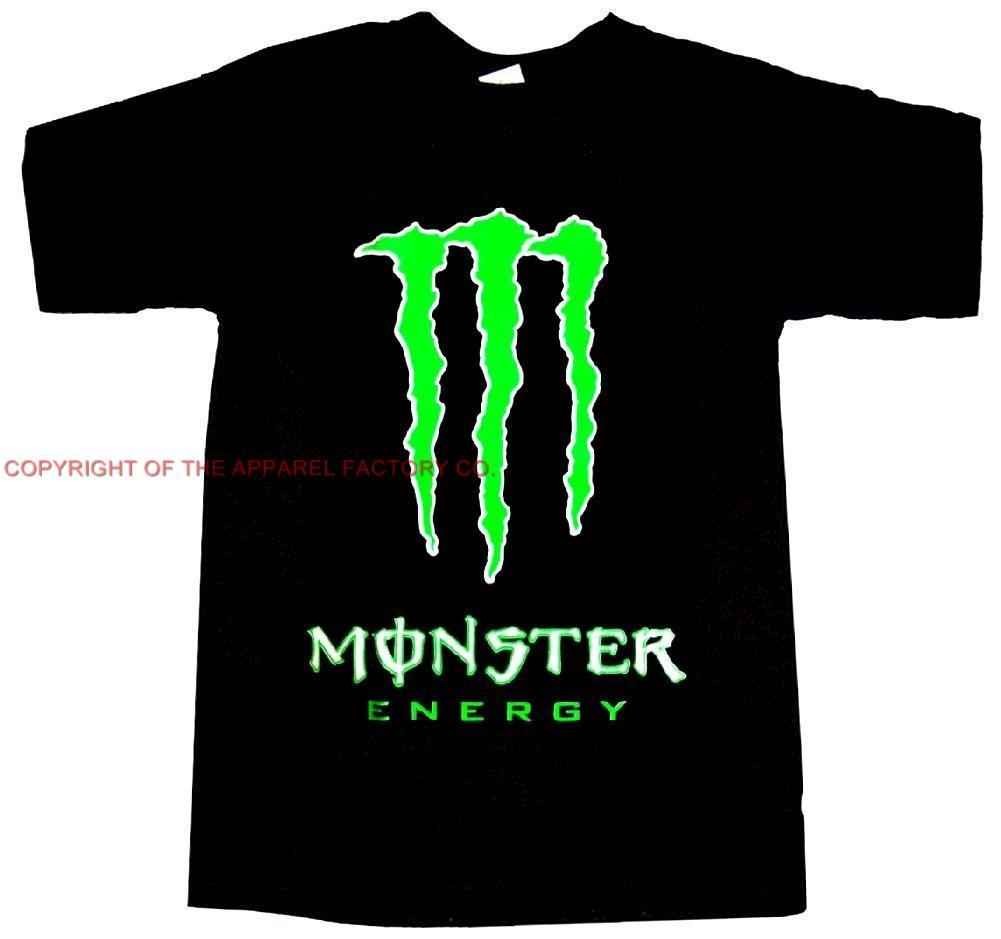new monster energy drink green logo t shirt pick your size. Black Bedroom Furniture Sets. Home Design Ideas