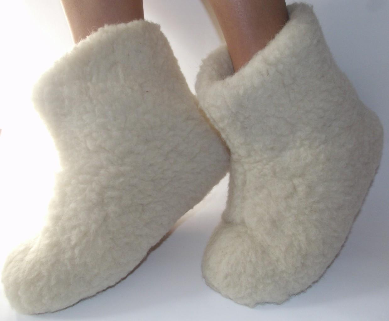 Womens Sheepskin Boot Slippers Santa Barbara Institute