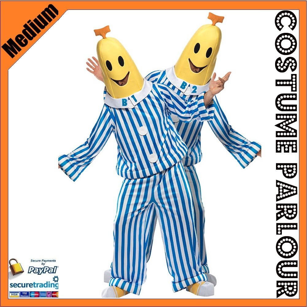 Mens-Bananas-in-Pyjamas-Official-Licensed-Fancy-Dress-Costume-Size-Medium