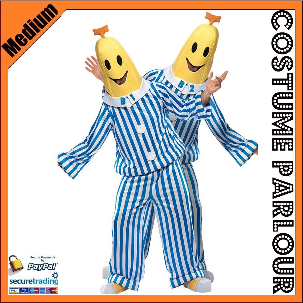 Mens-Bananas-in-Pyjamas-Official-Licensed-Fancy-Dress-Costume-Size-Medium