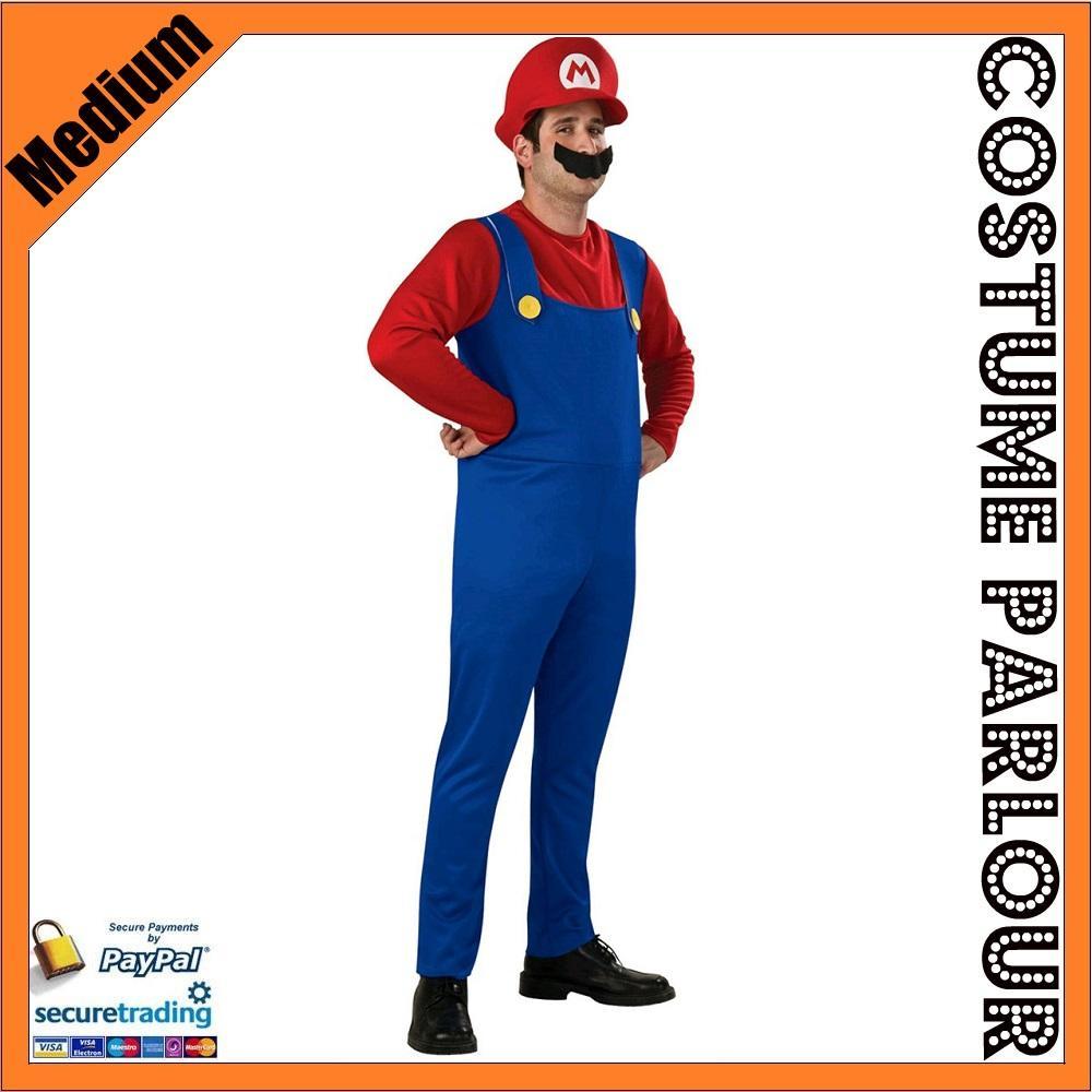 New-Mens-Super-Mario-Luigi-Brothers-Bros-Nintendo-Boys-Fancy-Dress-Costume