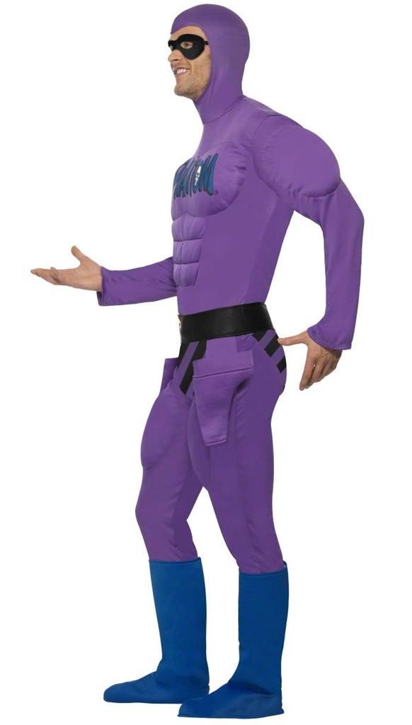 adult men u0026 39 s purple phantom comic superhero fancy dress costume