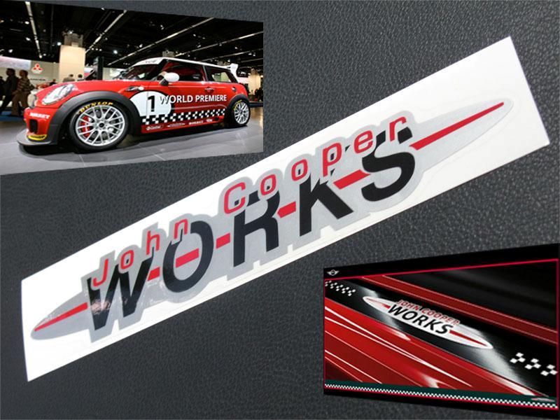 Pcs John Cooper Works Sticker JCW Mini s R53 R56 BMW CD24