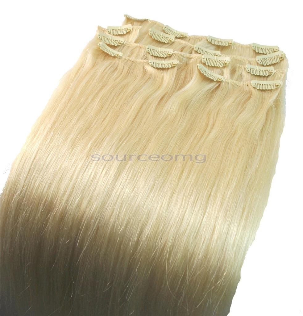 14-Clip-in-on-human-hair-extensions-lightest-blonde-60-FULL-HEAD