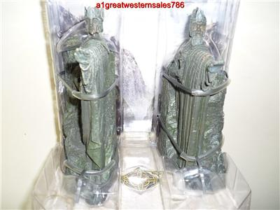 Sideshow weta argonath polystone bookend boxed new lord of the rings hobbit ebay - Argonath bookends ...