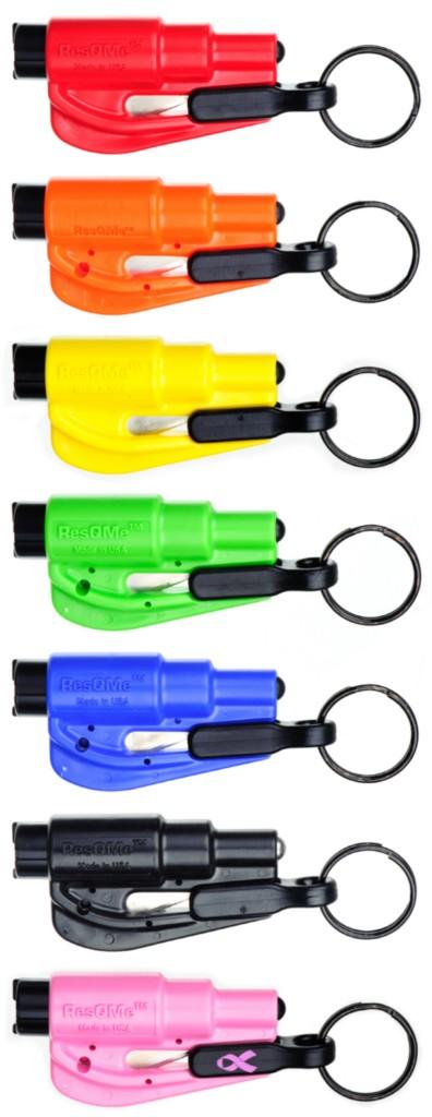 1 resqme keychain escape tool seatbelt cutter glass breaker key hammer pick ebay. Black Bedroom Furniture Sets. Home Design Ideas