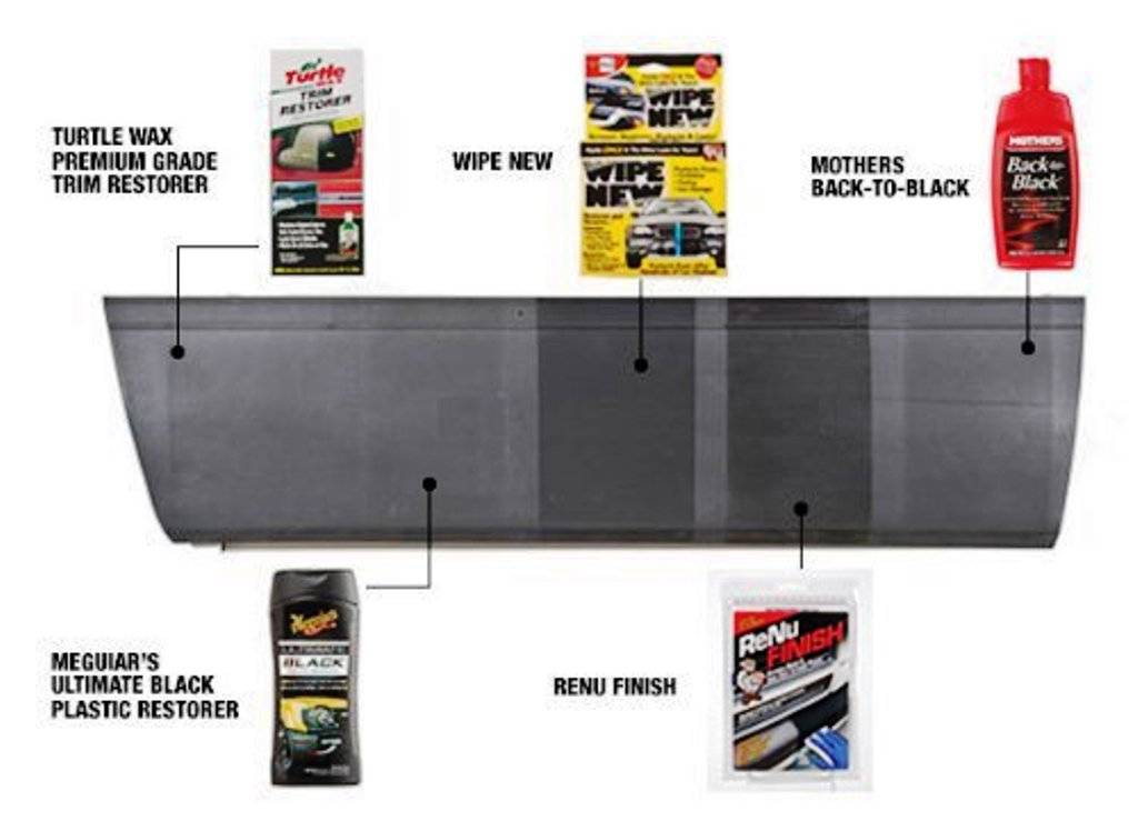 Meds renu pro rpk175 automotive black bumper fender trim restorer kit ebay Black interior car trim restorer
