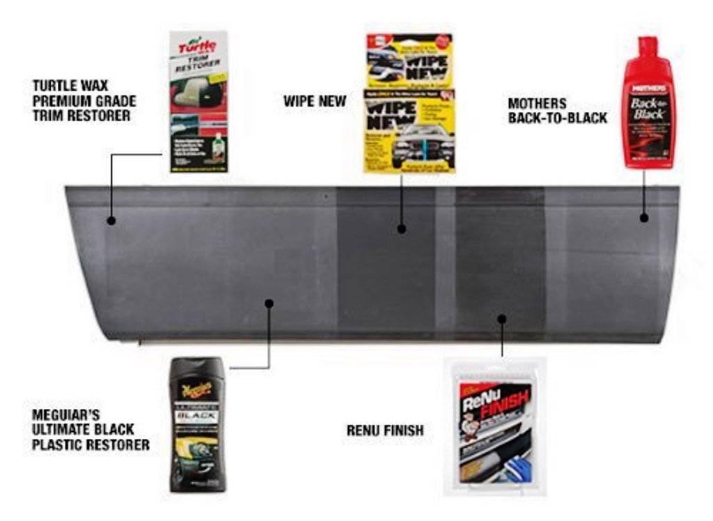 Meds renu pro rpk175 automotive black bumper fender trim restorer kit ebay Black interior car trim restorer