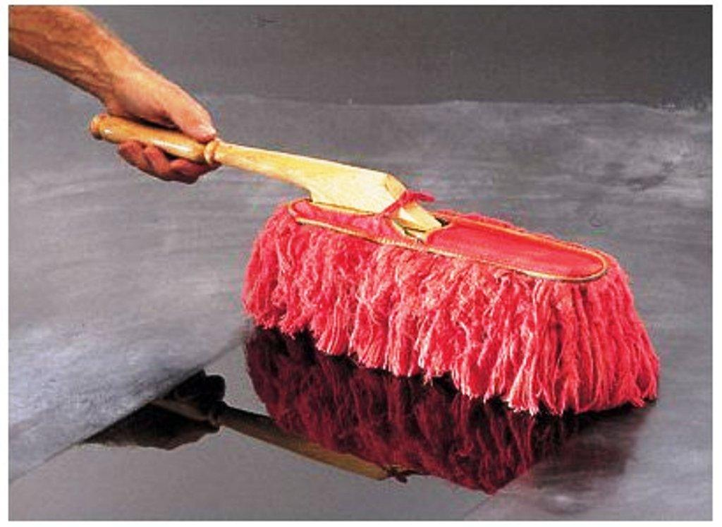 the original california wood handle large car duster 62442 paraffin wax and case ebay. Black Bedroom Furniture Sets. Home Design Ideas