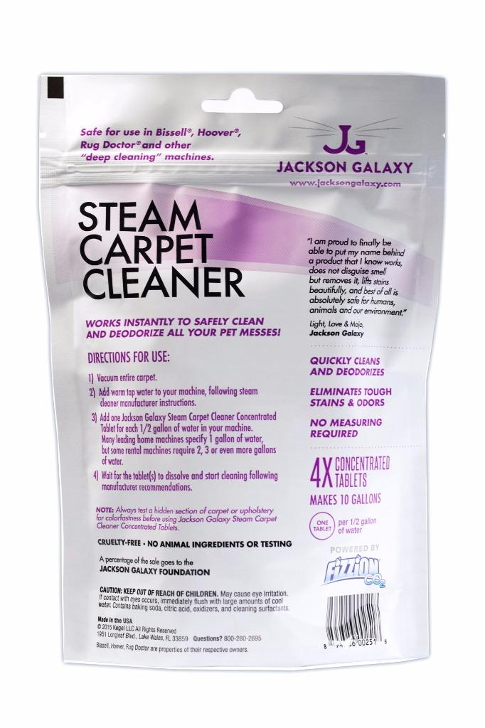 Jackson Galaxy Fizzion Steam Carpet Cleaner 20 Tab Hoover