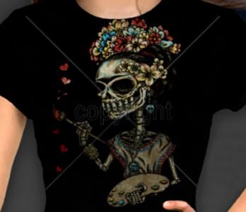 Rockabilly Day Of The Dead Dia De Los Muertos T Shirt S 3XL