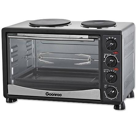 34L-Electric-Convection-Oven-with-Twin-Hot-Plates-Rotisserie