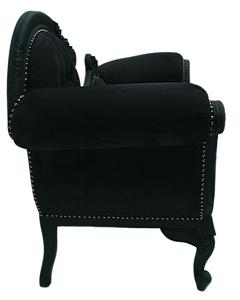 french shabby chic black noir rococo sofa chaise longue lounge ebay. Black Bedroom Furniture Sets. Home Design Ideas