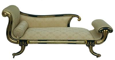 Gold beige leaf gilt chaise longue lounge day bed sofa ebay for Chaise longue sofa bed ebay