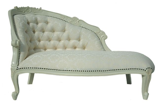 mahogany shabby chic antique white french boudoir loveseat sofa chaise longue ebay. Black Bedroom Furniture Sets. Home Design Ideas