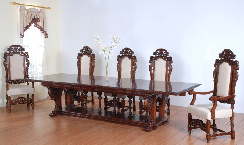 Ornate French Chair Carver Diner Dining Table Suite EBay