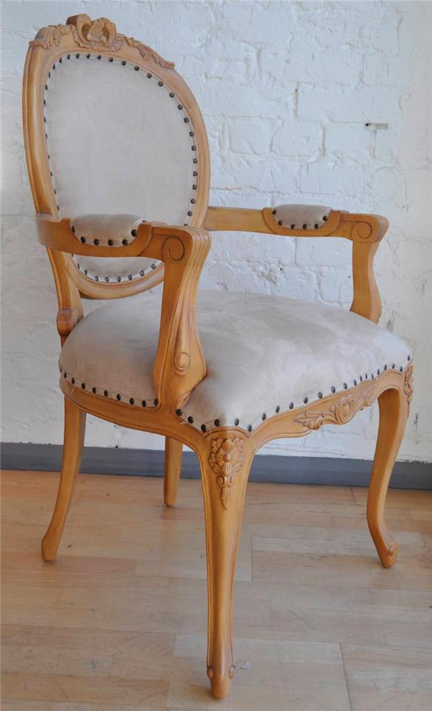 SHABBY-CHIC-BOUDOIR-STONE-QUALITY-FRENCH-PERIOD-LOUIS-CARVER-ARMCHAIR-CHAIR