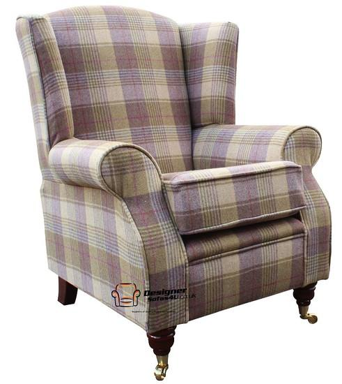 Arnold Fireside High Back Wing Armchair Hunting Tower