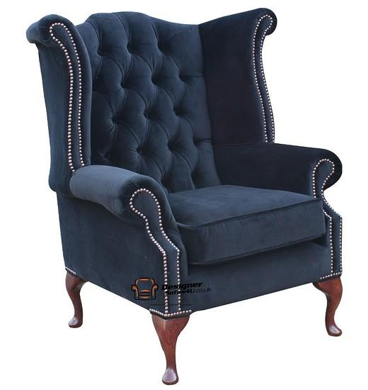 fauteuil chesterfield queen anne dossier haut aile chaise. Black Bedroom Furniture Sets. Home Design Ideas