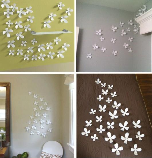 3d flower wall sticker home decor pop up stickers