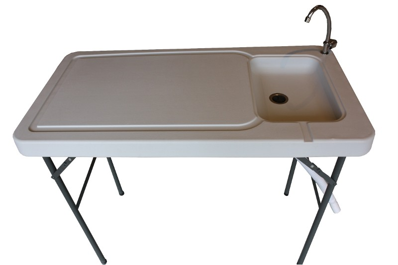 Portable Rv Sinks : Newport portable camping table with sink faucet