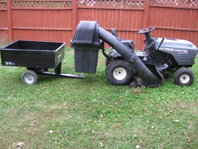 Craftsman 15 5 Hp 42 Automatic Lawn Tractor With Bagger Attachment Mulcher Ebay
