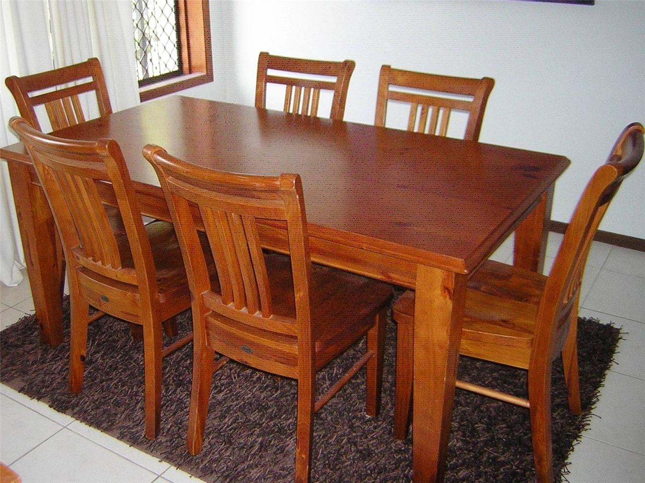 Balmoral Wooden 6 Seat Dining Table Chairs Set Kitchen  : 728440005o from www.ebay.com.au size 1280 x 960 jpeg 220kB