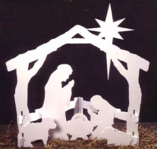 Details about make your own christmas nativity wood cutout full size