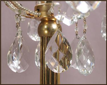 gilt bronze beaded crystal chandelier floor lamp candelabra ebay. Black Bedroom Furniture Sets. Home Design Ideas