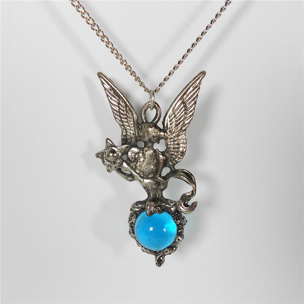 angel necklace pendant wings star crystal ball pewter ebay. Black Bedroom Furniture Sets. Home Design Ideas