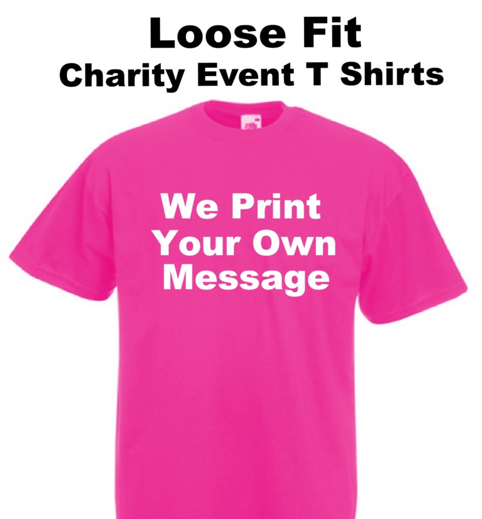 Pink unisex t shirt ideal for charity event wear it pink for Sell t shirts for charity
