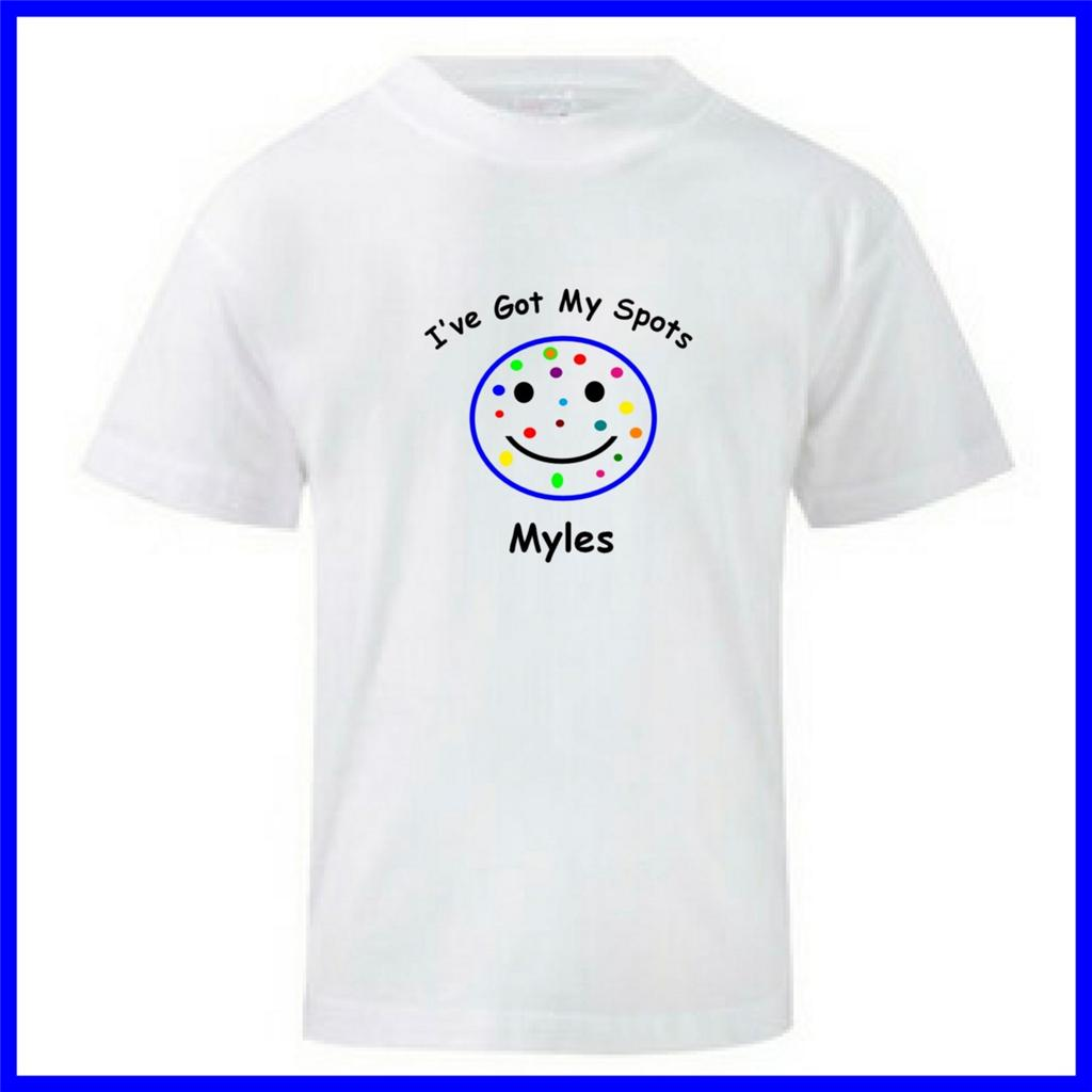 kids spotted t shirt boys or girls 10 donation to