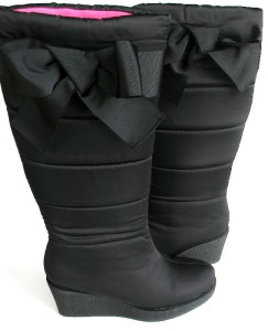 NIB Authentic KATE SPADE Womens Cagney Black Quilted Winter Boots Size