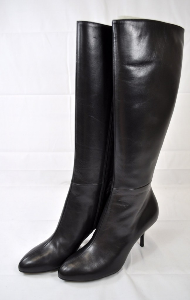gucci 246673 amj00 1000 black kid leather knee high boots