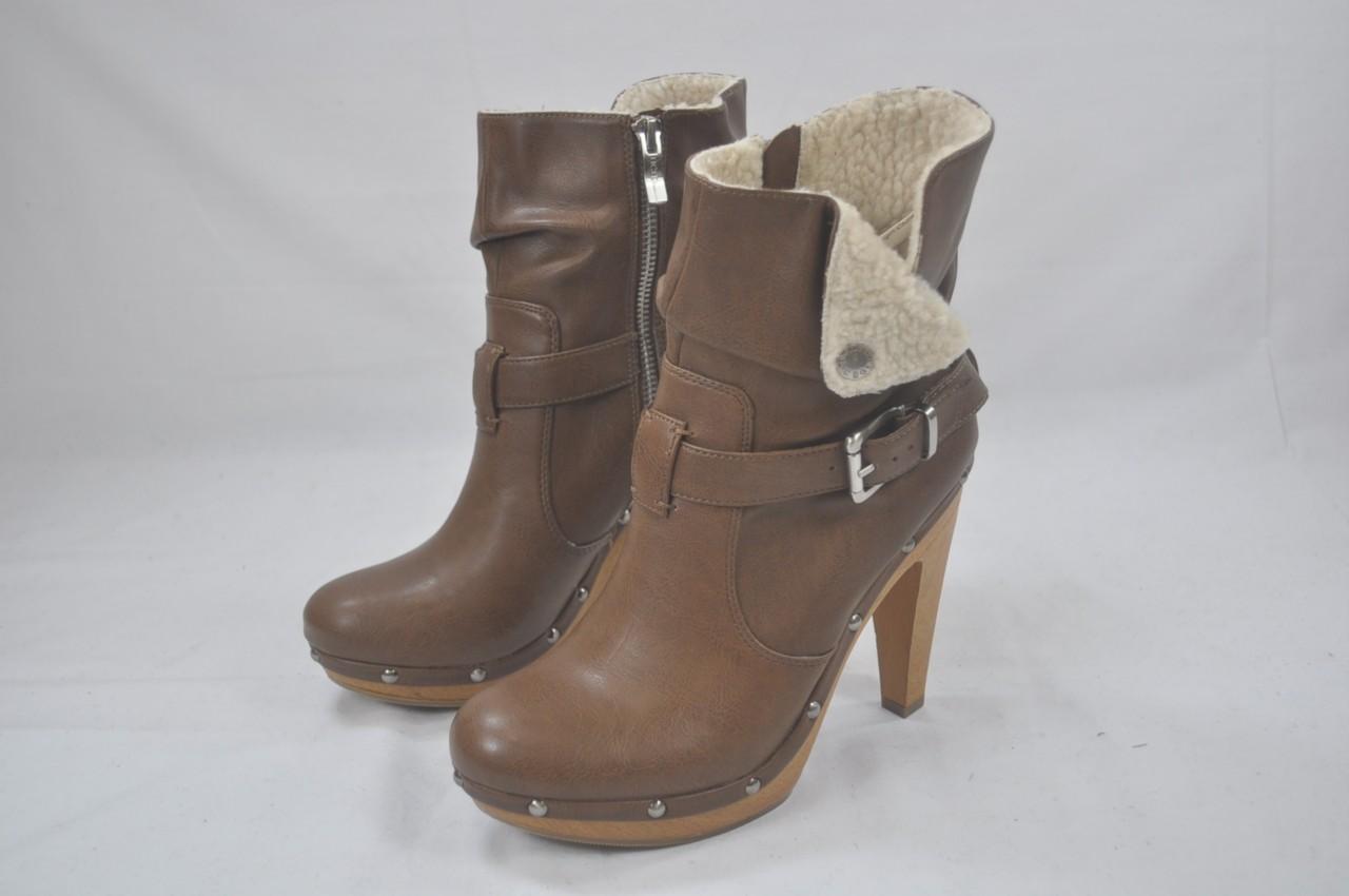 bcbg generation martha high heel bootie brown saddle ankle